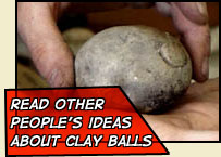 read other people's idead about clay balls