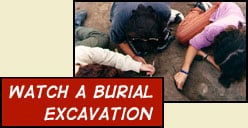 watch a burial excavation