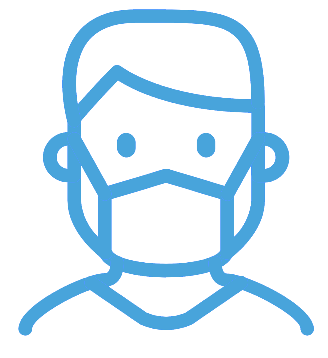 Icon of a person wearing a mask