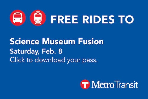 Click here to download your free ride pass for this event, provided by Metro Transit