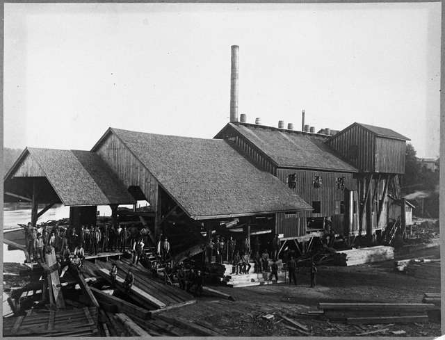 Walker, Judd & Veazie Sawmill at Marine, 1882 (Courtesy MN Historical Society)