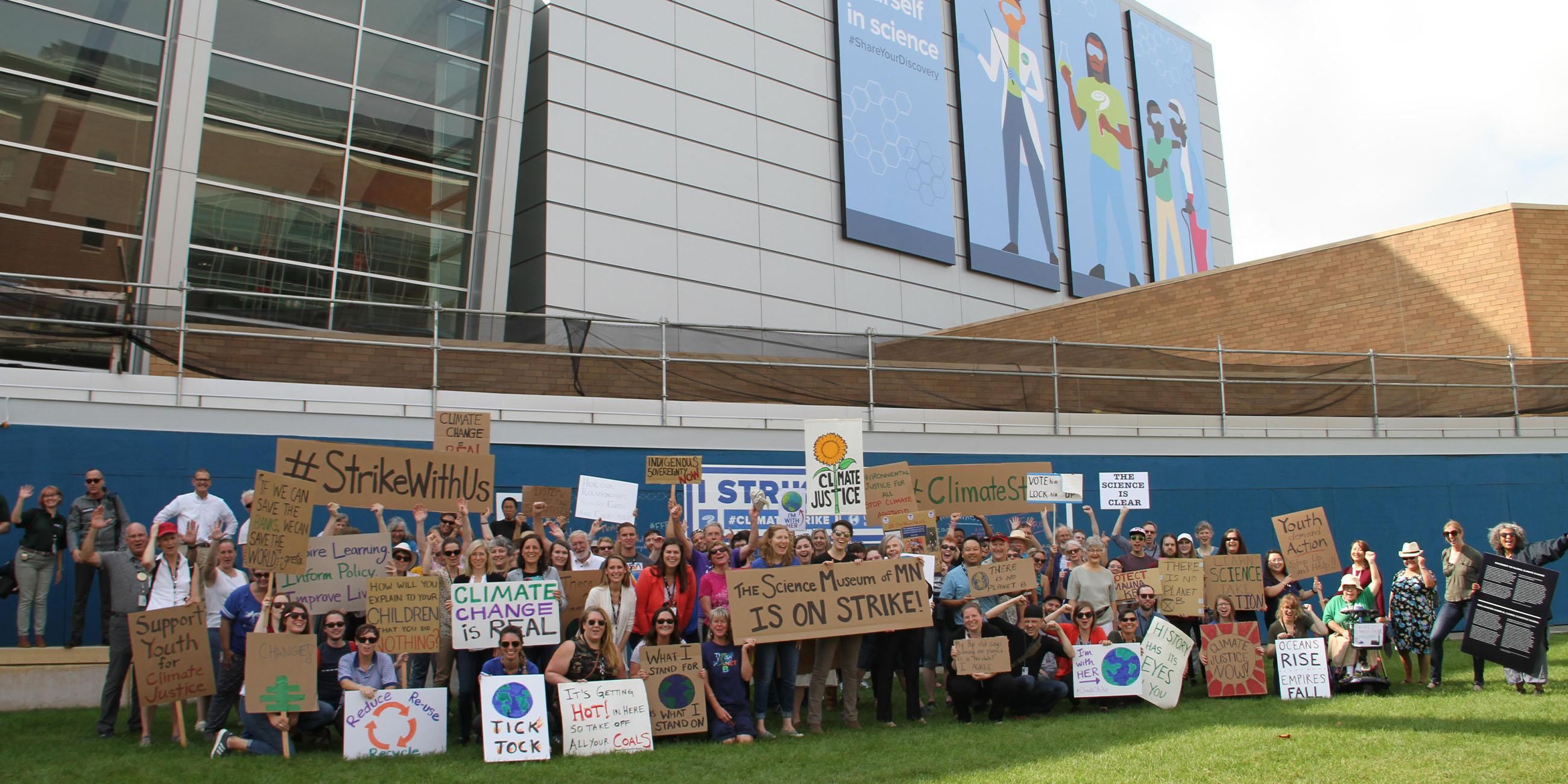 Our staff and volunteers at a climate change event.