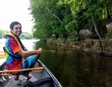 Three Hours, Two Countries, One Canoe
