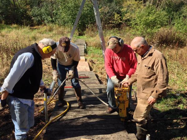 Repairing the Station boardwalk Oct. 2014