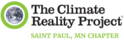 The Climate Reality Project Logo featuring a photo of the planet Earth